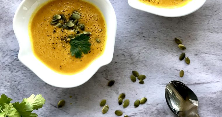 Creamy Carrot Ginger and Sweet Potato Soup
