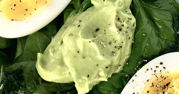 Brains and Brawn Salad (Kale, Spinach, Avocado and Eggs)