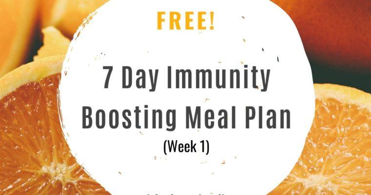 7-Day Immunity Boosting Meal Plan (Week 1)